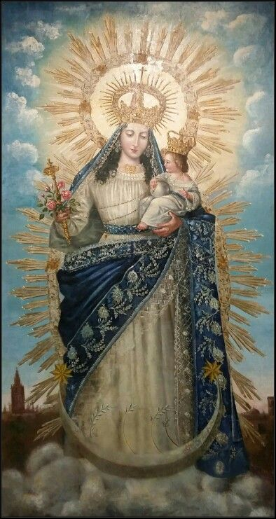 """Virgen de la Alegria. SXIX. Sevilla"" - I don't know anything about this lovely madonna & child..."