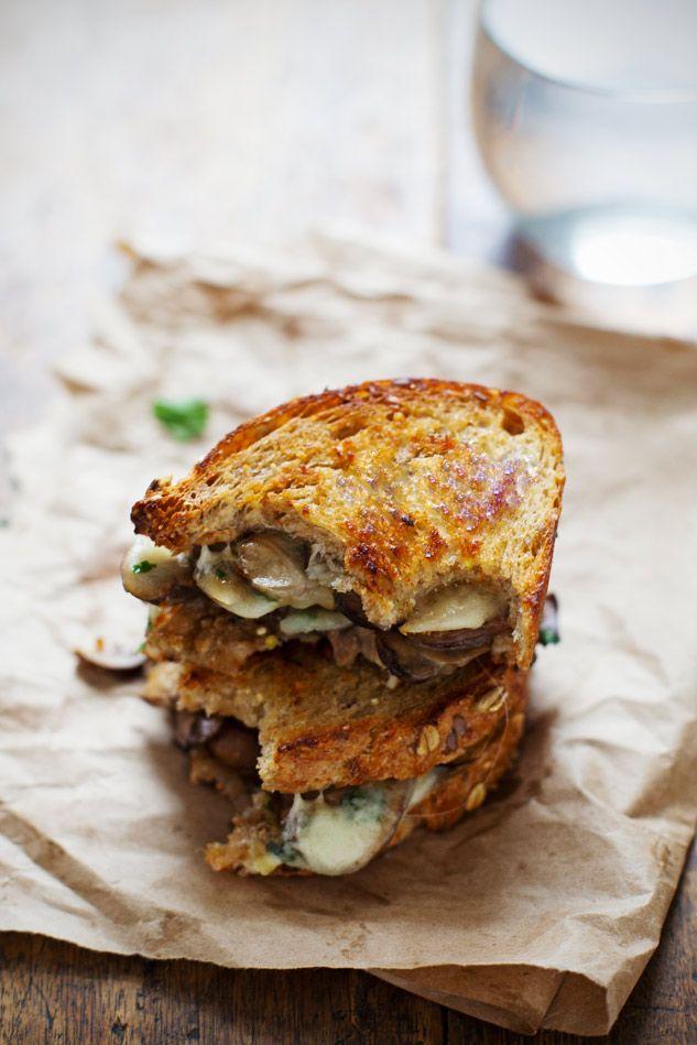 Simple Garlic Butter Mushroom & Provolone Melts | pinchofyum.com