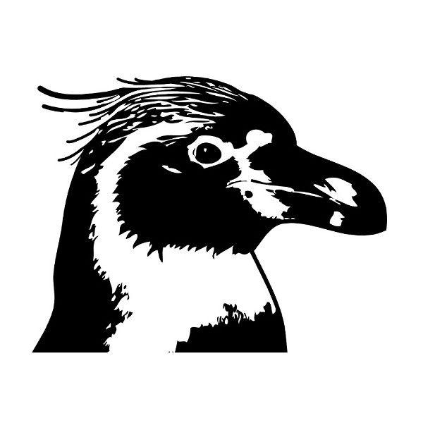 penguin silhouette | Muurtattoo Penguin | Silhouette stickers thema vogels