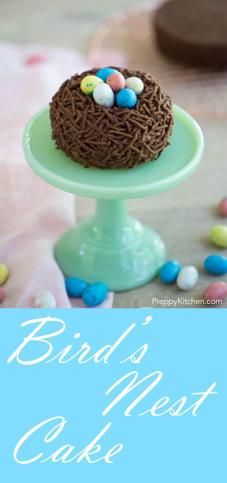 Bird's Nest Cake via @preppykitchen