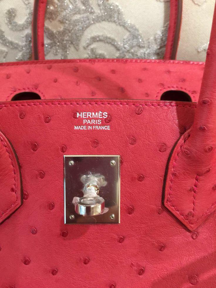 hermes lindy bag sizes - Sacs de Cr��ateur - Hermes Bougainvillea Ostrich Leather 35cm ...