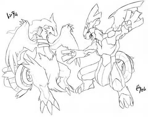 Pokemon Coloring Pages Of Zekrom And Reshiram