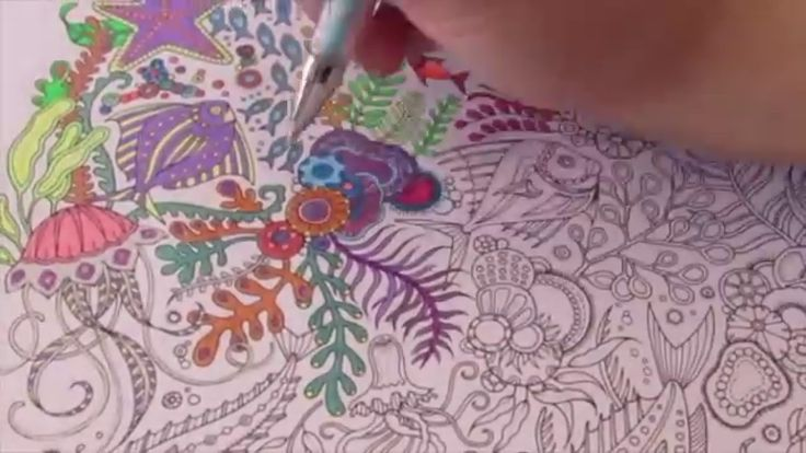 Speed Coloring With Gel Pens Lost Ocean By Johanna Basford