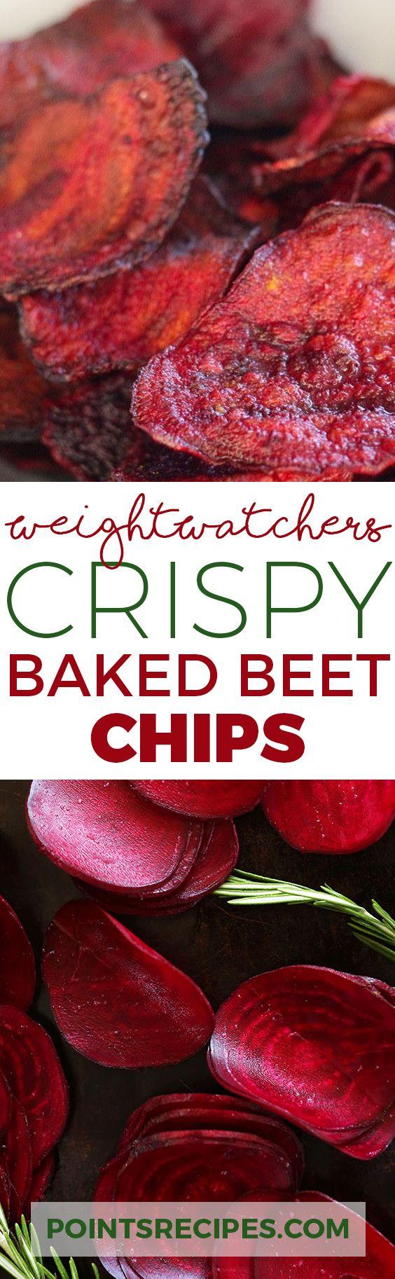 Crispy Baked Beet Chips (Weight Watchers SmartPoints)
