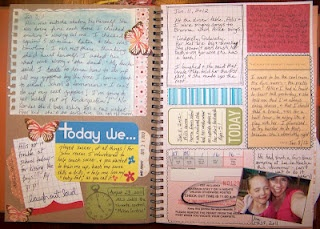 Smash Book - Journaling Layout with Tags
