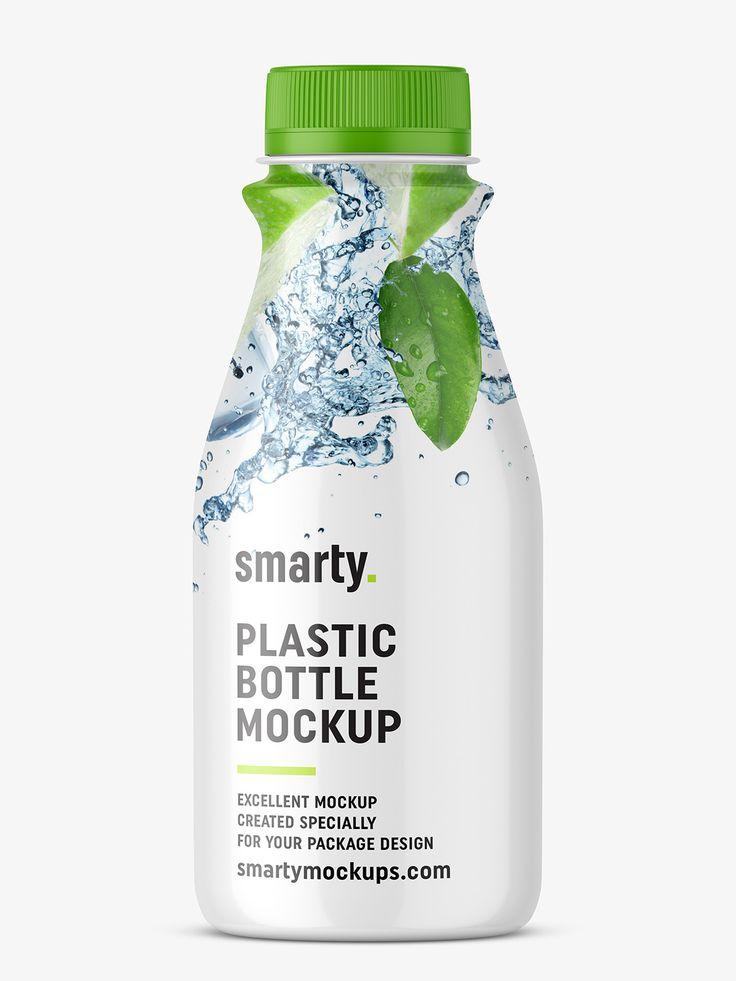 Dairy - plastic bottle mockup