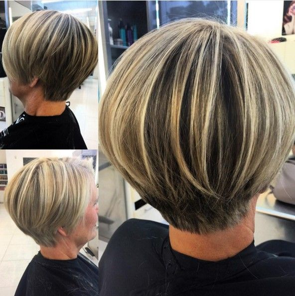 30 Stylish Short Hairstyles: Curly, Wavy, Straight Hair: #24. Layered Short Bob Hair Cuts