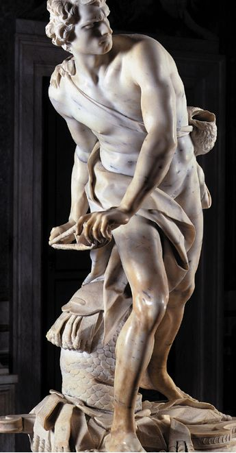 Rome Italy :: Galleria Borghese :: David by Bernini √ http://en.wikipedia.org/wiki/David_%28Bernini%29 http://www.galleriaborghese.it/borghese/en/edefault.htm