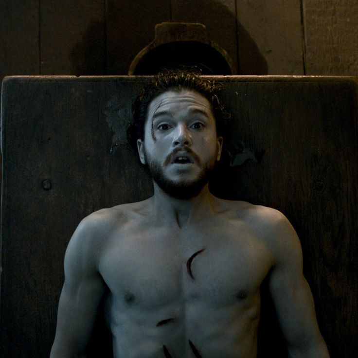 Upon being resurrected at the beginning of Season 6, Jon Snow wanders straight into the arms of Ser Davos and Melisandre, who kindly throw him a blanket before peppering him with questions. We learn that Jon Snow saw nothing after dying on Game of Thrones, which is one of the first things