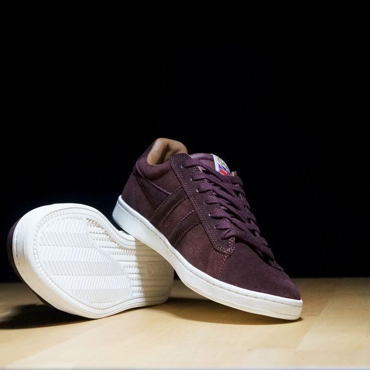Gola Caballeros Sneakers TRAINER SUEDE Borgoña/Cool Gris, size Herren schuhe:45
