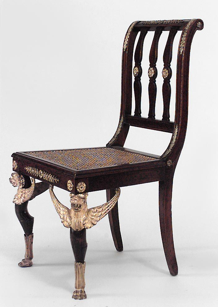 French Empire seating chair side chair pair mahogany  French FurnitureLuxury  FurnitureAntique. 186 best French Empire Antiques Collection images on Pinterest