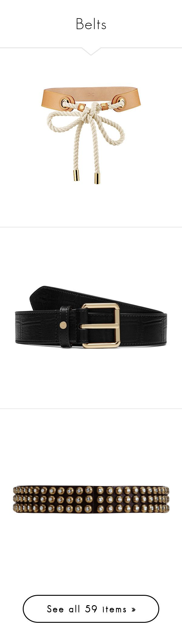 """Belts"" by yihansong ❤ liked on Polyvore featuring accessories, belts, jewelry, necklaces, louis vuitton, louis vuitton belt, black, leather belt, leather buckle belt and buckle belt"