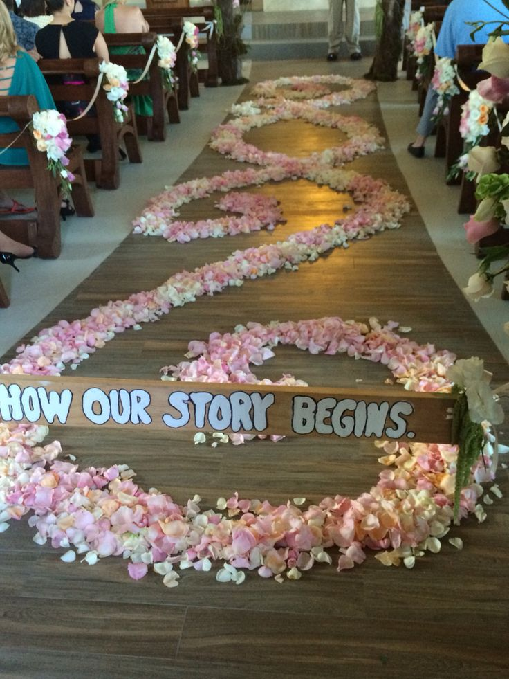 Got rose petals? As many as you like to make that walk down the aisle special