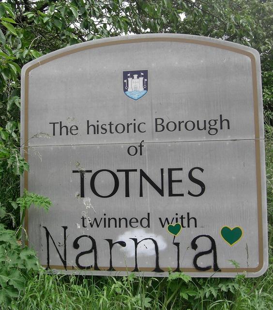 Totnes Twinned with Narnia South Devon by Bridgemarker Tim, via Flickr