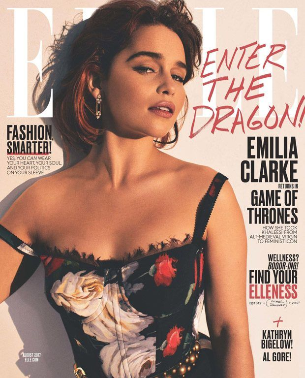 Emilia Clarke is the Cover Star of Elle Magazine August 2017 Issue