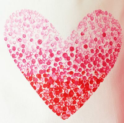 dot painting with eraser on end of a pencil: Crafts Ideas, Crafts Refashion, Diy Fashion, Dotty Heart, Valentines Day, Onesie Diy, Outfits Ideas, Paintings Heart, Heart Bags