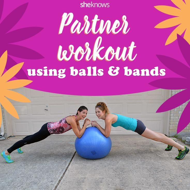 Stability Ball Workout Routine: Use A Stability Ball And A Resistance Band For This Full