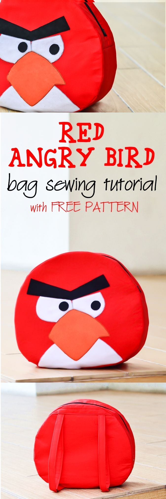 How to make Angry Birds Bag with FREE PATTERN on sewsomestuff.com