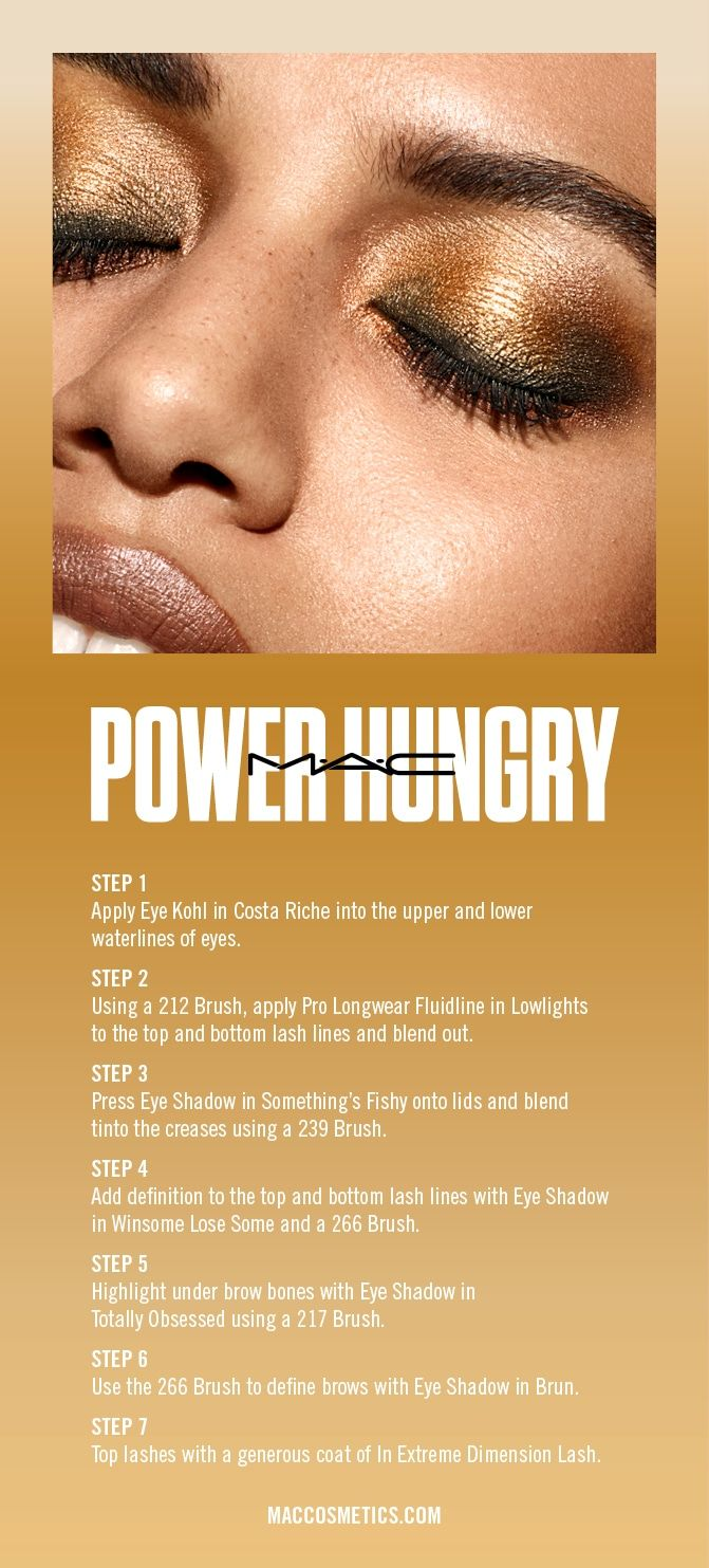 Mac Power Hungry Look 1 Mac Girls Mac Cosmetics Maquillaje