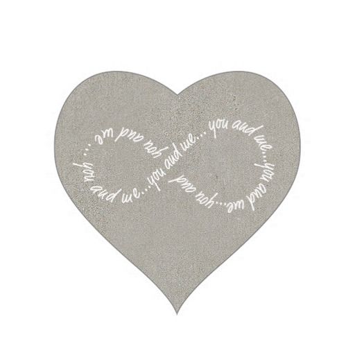 You and me infinity heart stickers glossy