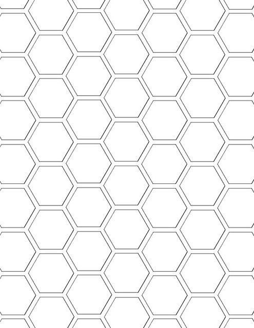 hexagon pattern template - standard mel stampz | Flickr - Photo Sharing!