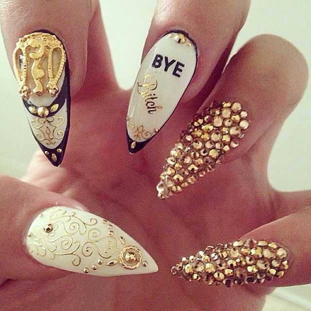 Dope nails love it Latife Gabrie @ gabrie4homes@gmail.com - 323 Best Nail Designs Images On Pinterest Stiletto Nails, Coffin