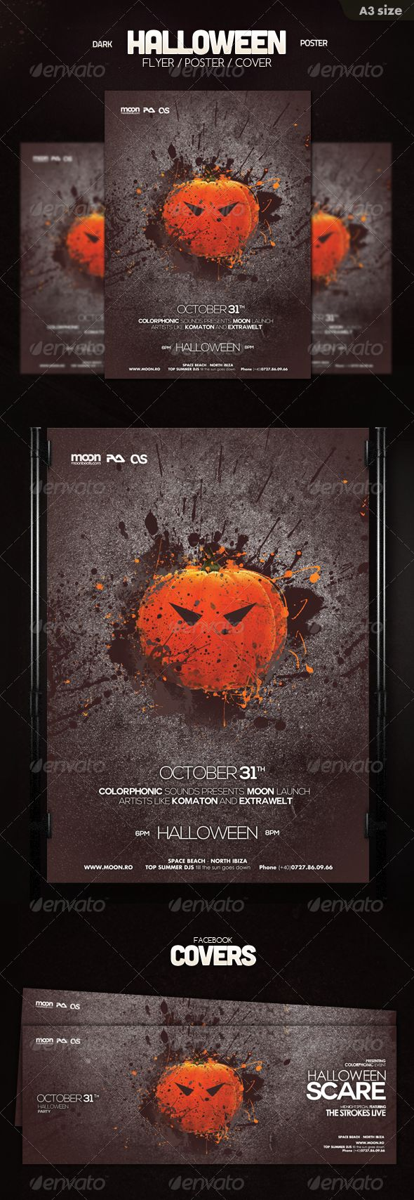 Halloween Poster Flyer Template PSD | Buy and Download: http://graphicriver.net/item/halloween-poster-flyer/5815877?ref=ksioks