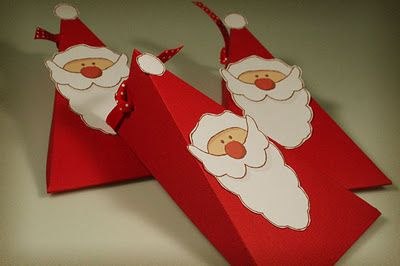 Santa gift box diy.  Use google translate... free templates too!