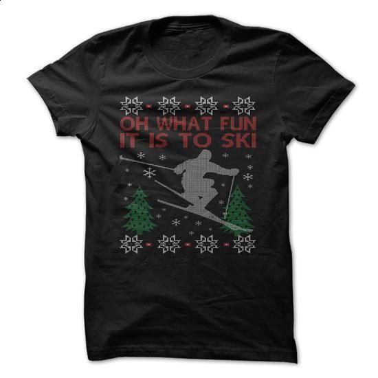 SKIING CHRISTMAS - #the first tee #cool tshirt designs. ORDER NOW =>…