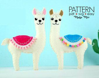 Felt Pattern Llama Pattern Llama Svg Cricut Felt Ornamanet Stuffed
