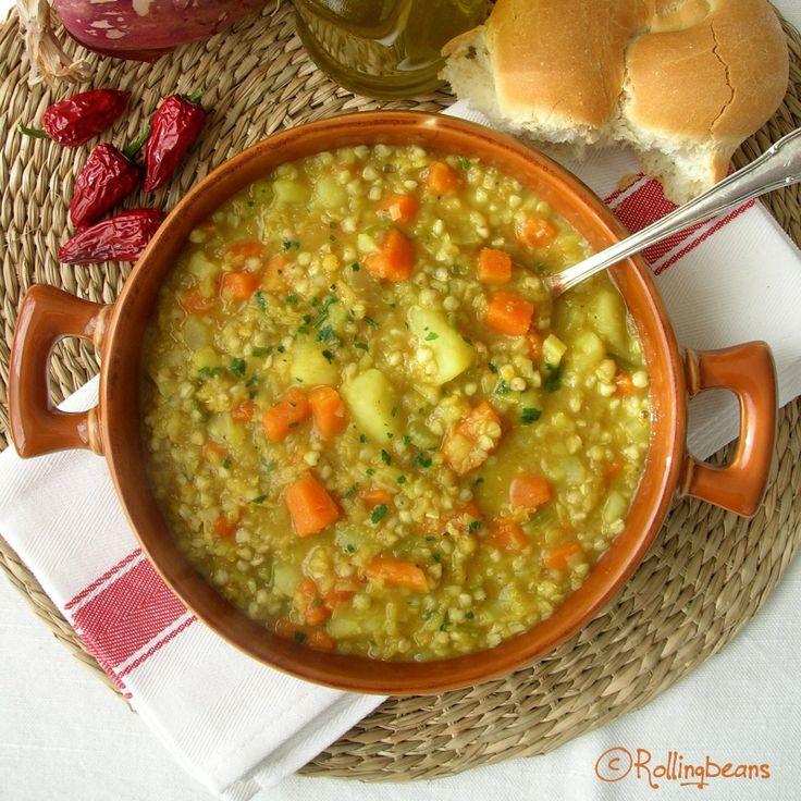 Zuppa di grano saraceno e lenticchie rosse (vegan,glutenfree) Buckwheat soup with red lentils