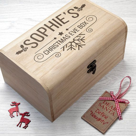 Personalised Christmas Eve Chest  - S - Christmas Eve Box - Children's Christmas Eve Box - Night Before Christmas Box - FREE UK DELIVERY