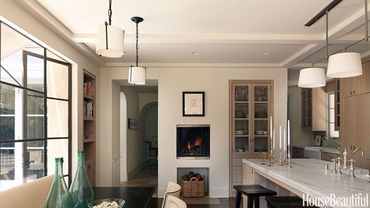 55 kitchen lighting ideas that make an impact small fireplace kitchen