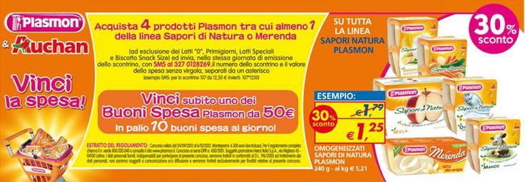 Auchan, acquista prodotti Plasmon e vinci buoni spesa