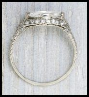 Art Deco marquise engagement ring by Tiffany and Co., circa 1925. Via Diamonds in the Library..