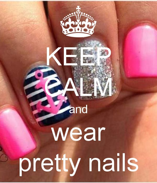 Keep Calm and wear pretty nails