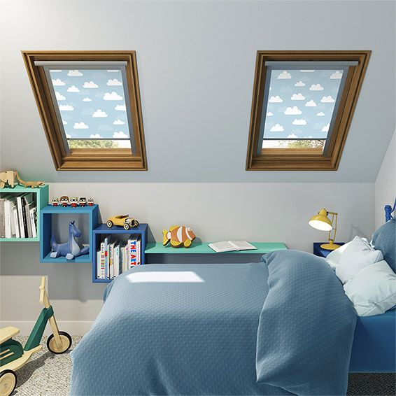 Expressions Blue Clouds Blackout Blind For VELUX ® Windows