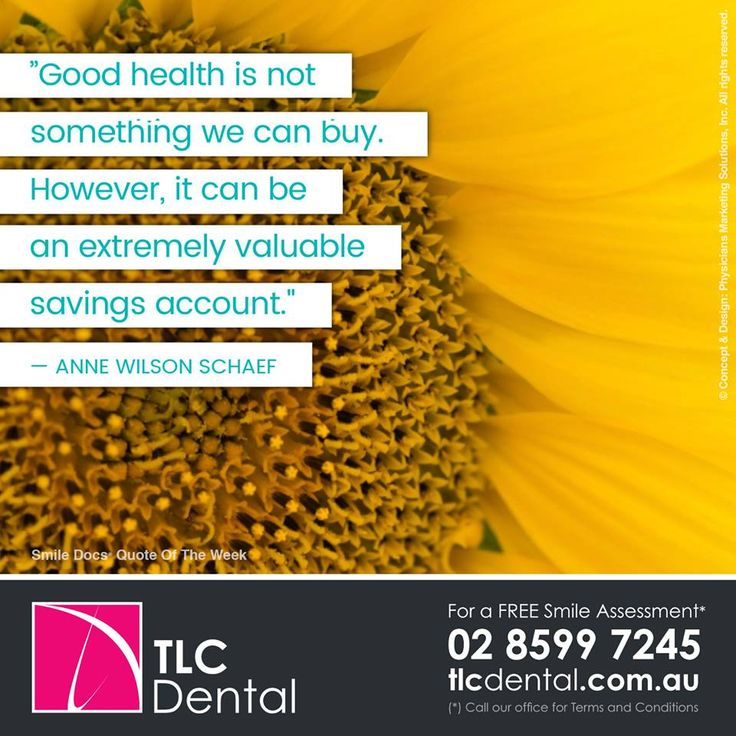 "#InspirationalQuote — ""Good health is not something we can buy. However, it can be an extremely valuable savings account."" — Anne Wilson Schaef / For a Free Smile Assessment*, please call 02 8599 7245 - www.tlcdental.com.au / (*) Please call our office for Terms & Conditions. #SmileDocs #SmileDeals #drhoffenberg #tlcdental #dental #practice #cosmetic #tmj #invisalign #whitening #filler #care #dentist #porcelain #crowns #veneers #dental #implants #clear #braces #teeth"