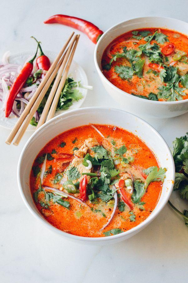 15 Minute Coconut Curry Noodle Soup
