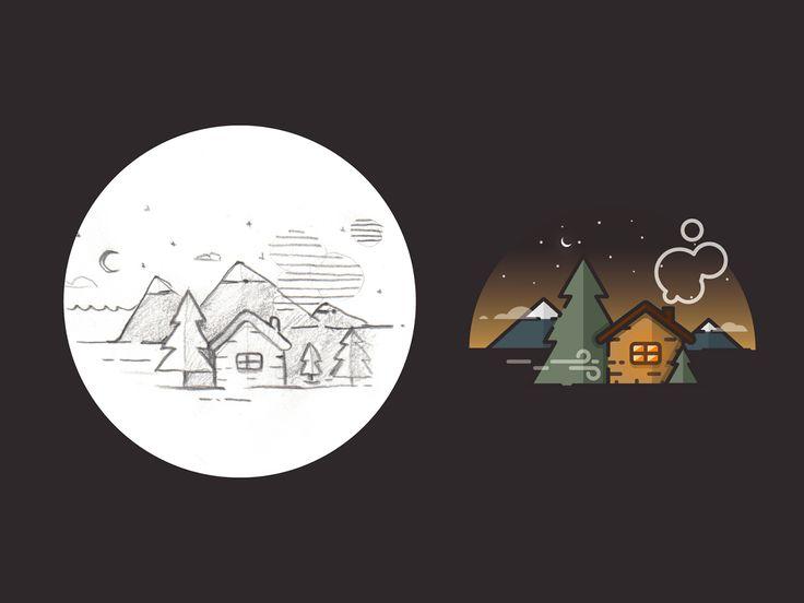 Andrew Kirp es un diseñadore ilustrador de Nueva Zelanda, por su Behance, nos enteramos de que está buscando trabajo en Auckland como Front End Developer, no dejéis de ver sus trabajos.  Kirp ha hecho una recopilación del antes y el después de algunas de sus ilustraciones en flat design. El antes es el boceto a lápiz, es curioso ver como plasma efectos que más tarde aplicará en vectorial como los resplandores, las sombras, los degradados o los fondos.