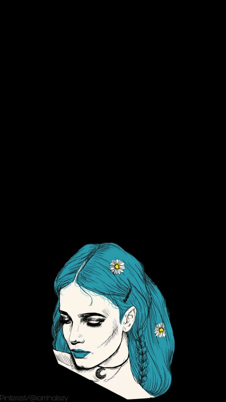 Halsey Blue Hair Wallpaper Aesthetic Iphone Android Halsey Bff Pictures Halsey Hair
