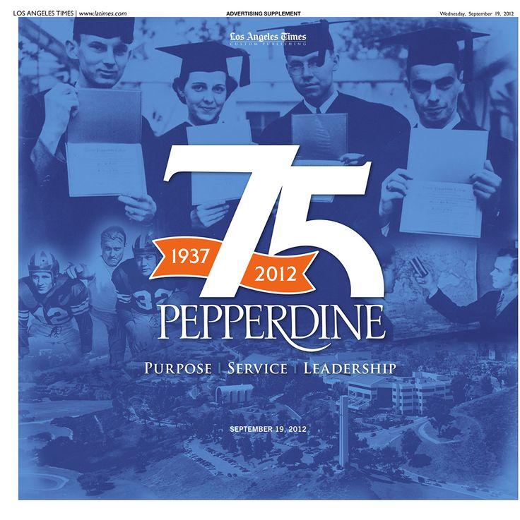Pepperdine University: 75th Anniversary on Behance