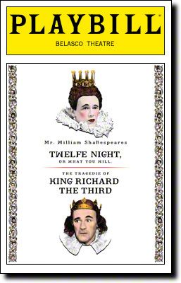 The Shakespeare's Globe productions of Twelfth Night and Richard III open today at the Belasco Theatre