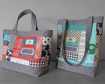 Perfect+Quilted+Tote+Pattern+by+Elizabeth+Hartman