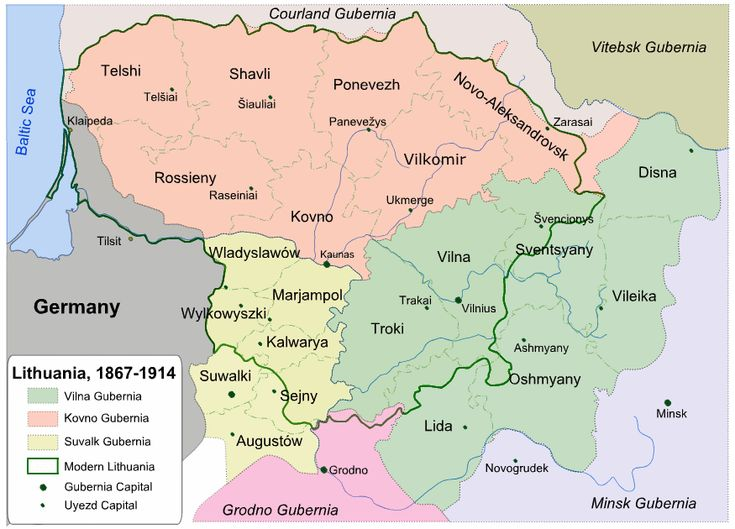 JewishGen Lithuania Database - Geographical Regions