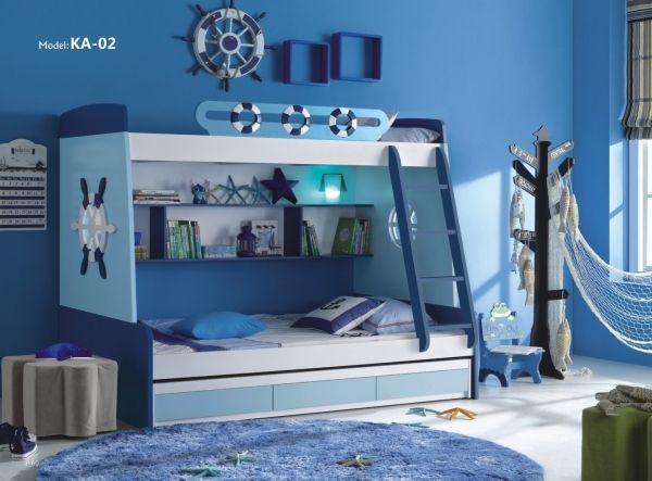 Maritimes etagenbett kinder und jugendzimmer for Jugendzimmer etagenbett