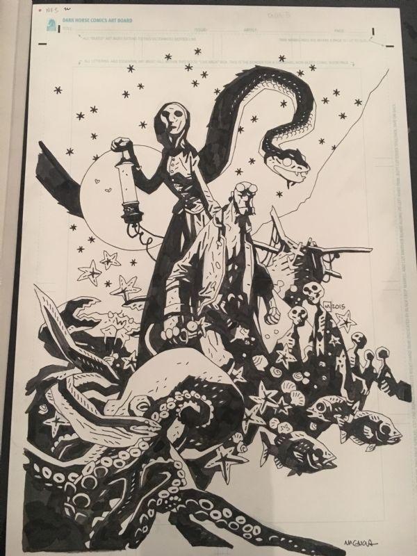 Hellboy, Into the silent sea Comic Art