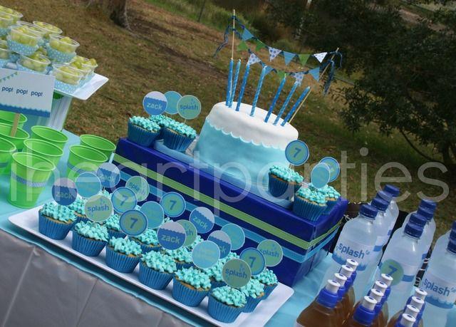 "Photo 9 of 9: Pool Party / Birthday ""7th Birthday - Make a Splash with Zack!"" | Catch My Party"