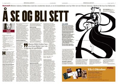 Bokmagasinet i Klassekampen 13. april 2013. Magasindesign. Layout. Grafisk design. Redaksjonell design. Graphic design. Magazine design. Editorial design.