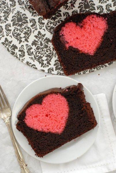 Chocolate cake with hidden cake
